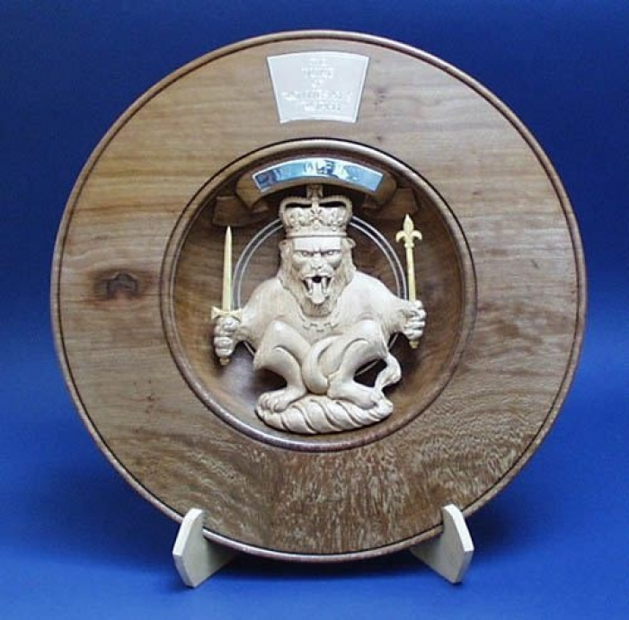 HRH The Prince of Wales,Duke of Rothsay's Trophy Lacewood & Lime. W 18in