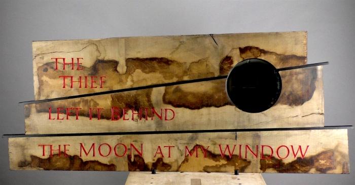Haiku by Ryokan. Oak with circular mirror