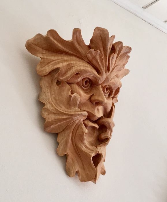 Cumberworth Green Man - side view