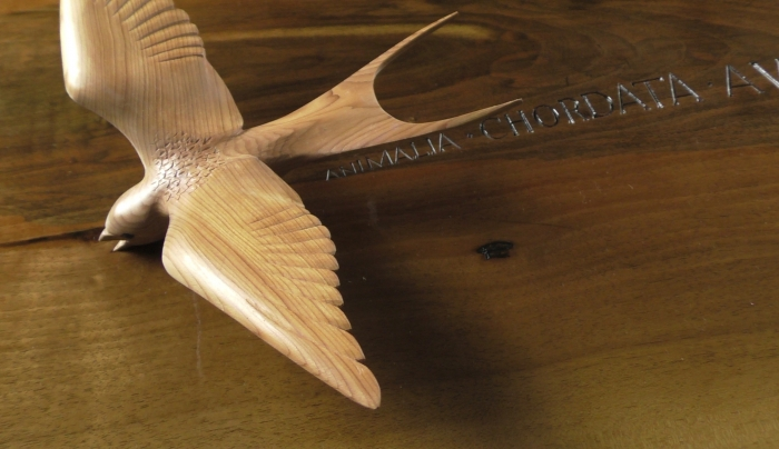 Swallow Table - detail - lettering