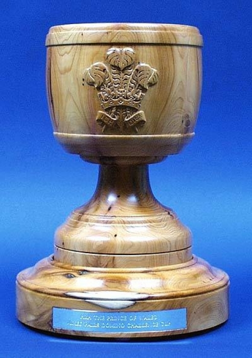 HRH The Prince of Wales,National Hedgelayers' Trophy. Yew. H 13in