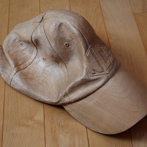 Baseball Cap. Basswood. Life size