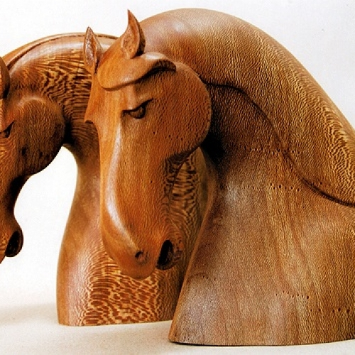 Tang Horsehead Bookend. London Plane. H 8in