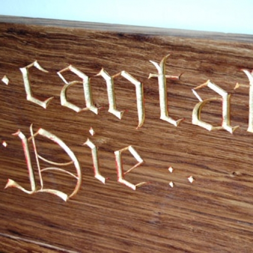 Gilded Gothic Lettering H 2in
