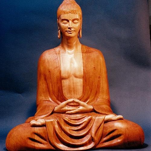 Buddha Rupa. Oak. H 30in