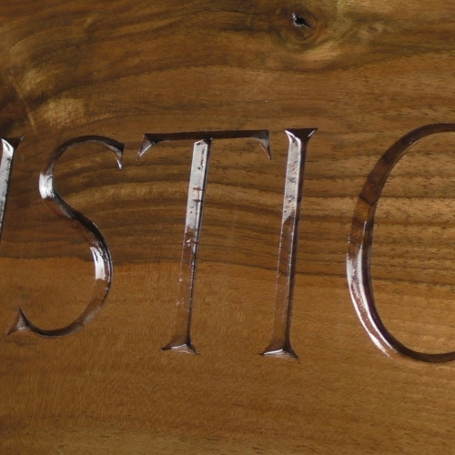Swallow Table - lettering
