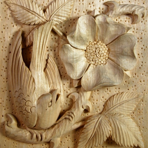 Arts & Crafts Panel Limewood 180mm high