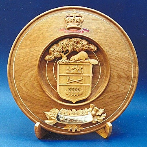 HRH The Prince of Wales, Lord Strathcona's Horse (Royal Canadians). Lacewood & Lime. W 18in