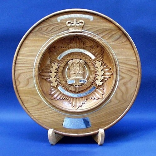 HRH The Prince of Wales, Royal Regiment of Canada Trophy. Elm & Lime. W 18in