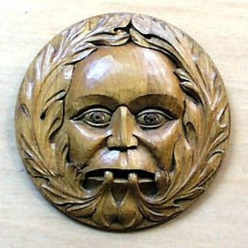Ludlow Green Man Oak 9in 230mm diameter